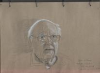 Opa, Grafit, Weiß gehöht, Zeichnungen