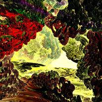 Fraktalkunst, Landschaft, Digital, Mandelbulb