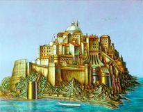 Lasurtechnik, Fantastischer realismus, Architektur, Malerei
