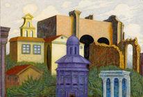 Architektur malerei, Phantastischer realismus, Malerei