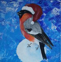 Vogel, Weihnachten, Malerei