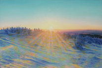 Brocken, Natur, Malerei, Winter