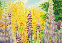 Gegenständlich, Spektralfarbe, Naturmalerei, Pflanzen