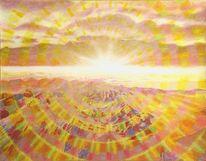 Sonnenstrahlen, Sonne, Licht, Landschaft