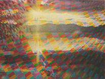 Sonnenlicht, Sommer, See, Regenbogenfarben