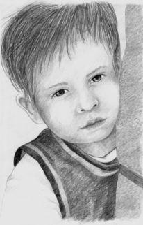 Zeichung, Kind, Schüchtern, Zeichnungen