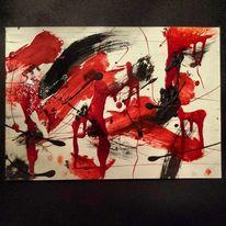 Wut, Raserei, Acrylmalerei, Abstrakt