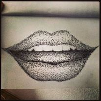 Freude, Zeichnung, Menschen, Lippen