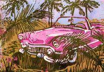 Cabrio, Kuba, Cadillac, Pink