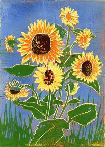 Sonne, Blumen, Sommer, Sonnenblumen