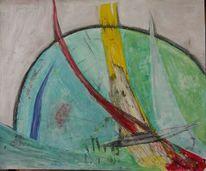 Temperamalerei, Abstrakt, Farben, Durchbruch