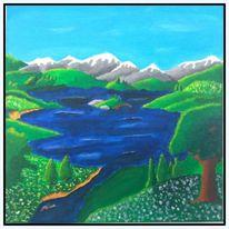Malerei, Bergsee