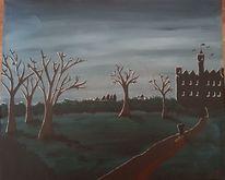 Nacht, Malerei, Acrylmalerei