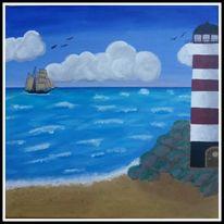 Malerei, Leuchtturm