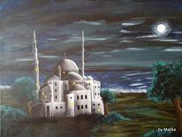 Acrylmalerei, Landschaft, Malerei, Nacht