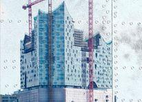 Stahl, Genietete stahlplatten, Stahlplatten, Digitale kunst