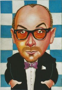 Musiker, Illustration, Elvis costello, Musikant
