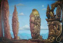 Malerei, Figur, Gemälde, Landschaft