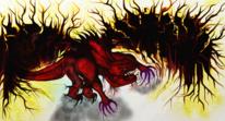 Rot, Malerei, Firedemon, Digitale kunst