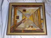Acrylmalerei, Vintage, Zeitgeist, Rahmen