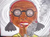 Kuba, Dame, Alt, Malerei