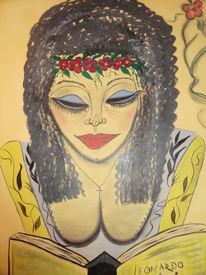 Mädel, Weiblichkeit, Träumereien, Malerei
