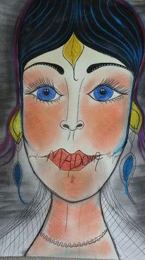 Weiblichkeit, Reiz, Dame, Malerei