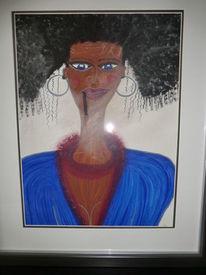 Frau, Kuba, Malerei,