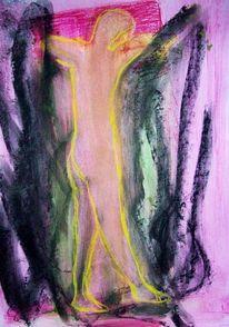 Pastellmalerei, Zeichnung, Gefangen, Zeichnungen