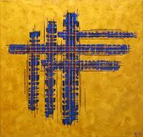 Abstrakt, Acrylmalerei, Kopp, Malerei