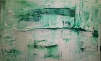 Ungewissheit, Malerei, Grün, Abstrakt