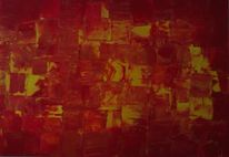 Malerei, Orange, Rot, Sehnsucht