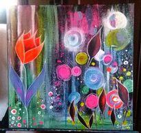 Abstrakt, Blumen, Beet, Bunt
