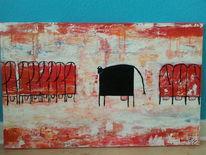 Acrylmalerei, Malerei, Spachteltechnik