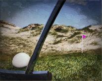 Zeichnung, Digital, 3d, Golf