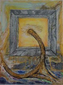 Malerei, Acrylmalerei, Gefangen