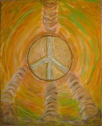 Frieden, Acrylmalerei, Mischtechnik