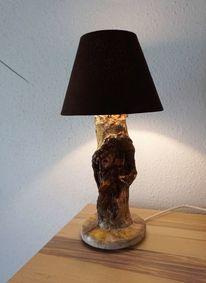Skulptur, Holz, Lampe, Plastik