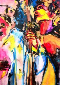 Entwurf, Gemälde, Gesellschaft, Tanz