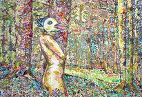 Wild, Zeichnung, Akt, Frau