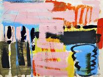 Abstrakt, Rosa, Malerei