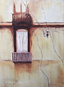 Melancholie, Fassade, Innere, Fenster