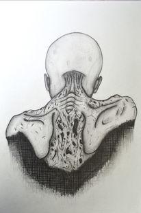 Bleistiftzeichnung, Tod, Abstrakt, Zeichnung