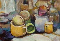 Tisch, Gelb, Schale, Küche