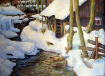 Winter, Mühle, Bodental, Malerei