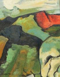 Rot, Farbstudie, Weste, Cézanne