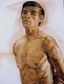 Leinen, Ölmalerei, Portrait, Malerei