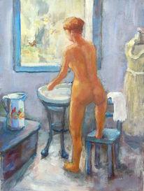 Aktmalerei, Reinigung, Frau, Erotik