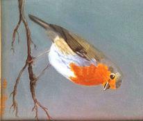 Ölmalerei, Tiere, Stillleben, Piepmatz