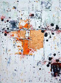 Kupfer, Malerei, Grau, Abstrakt